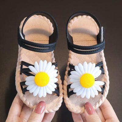 1-9岁儿童凉鞋夏季网红小雏菊女童软底公主鞋大中小童宝宝露趾鞋