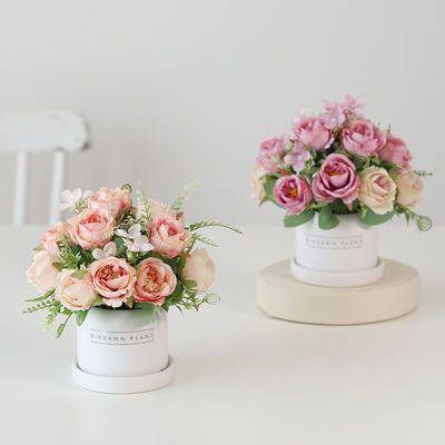 【立减五元】假花仿真花家居客厅茶几装饰摆设塑料花盆栽桌面摆件