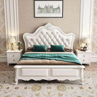 欧式床双人床1.8米主卧公主床婚床时尚简约1.5米实木床橡木床家具