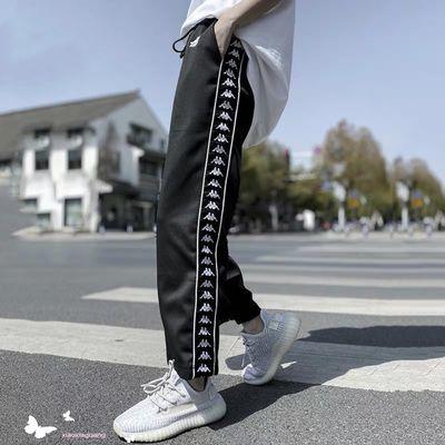 网红同款ins运动裤宽松显瘦串标裤子 学生潮流韩版休闲直筒裤卫裤