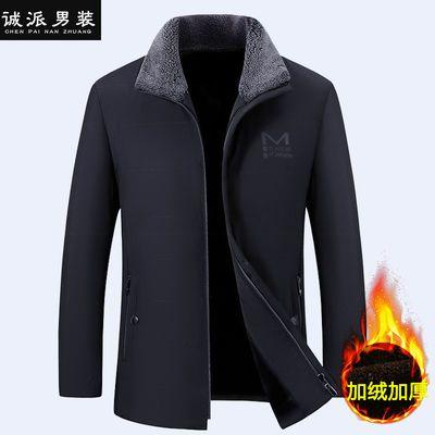 中老年棉衣男士外套中年人男装冬天外衣服40到50岁爸爸装羽绒棉服