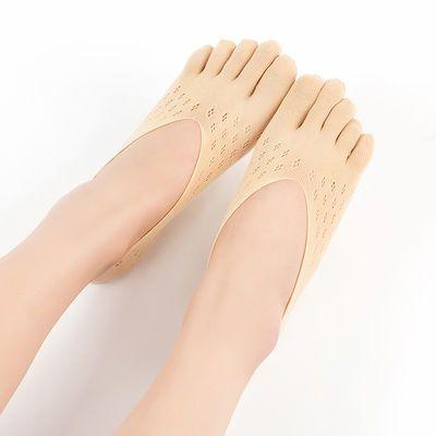 船袜女浅口隐形袜子女短韩版蕾丝学生夏季五指袜女士短筒薄冰丝袜