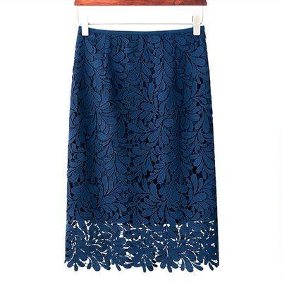 蕾丝半身裙 a字女2019早春流行裙子夏新款大码中长款显瘦包臀短裙