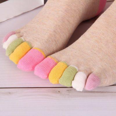 3双/5双 五指袜女士夏季棉袜浅口可爱分趾袜薄款隐形船袜低帮袜