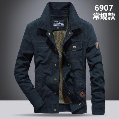 富贵鸟棉衣男装冬季加厚加绒棉服中年复古休闲工装大码羊羔绒外套