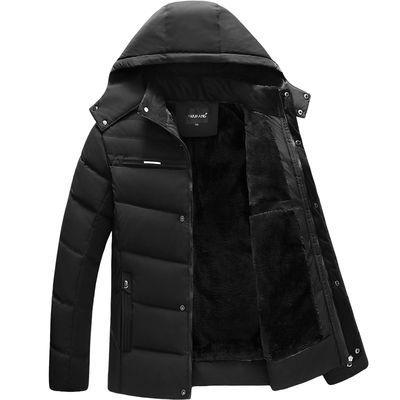 爸爸外套冬装中老年棉衣男加绒加厚保暖棉袄冬季新款棉服中年男装