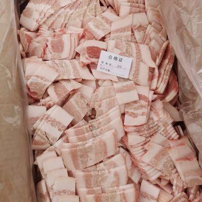 生鲜冷冻猪肉片一箱20斤食堂快餐店食材江厂家直销一箱包邮