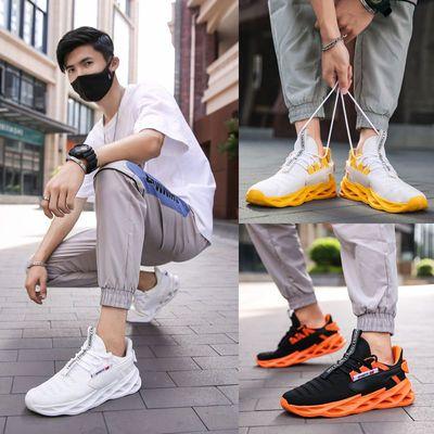 运动鞋男夏季透气学生跑步鞋防臭轻便潮流减震防滑新款气垫椰子鞋
