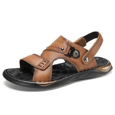 2020新款凉鞋休闲时尚沙滩鞋厚底透气凉鞋男士户外运动鞋