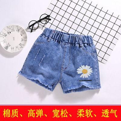 女童夏装弹力破洞小女孩裤子棉质儿童女童牛仔裤外穿儿童短裤