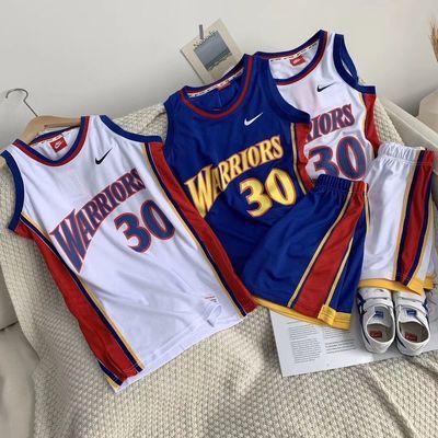 儿童套装女童男童夏装新款洋气运动篮球服网眼速干休闲短裤中大童