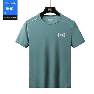 夏季冰丝短袖男速干t恤跑步宽松吸汗大码速干衣户外运动休闲短袖
