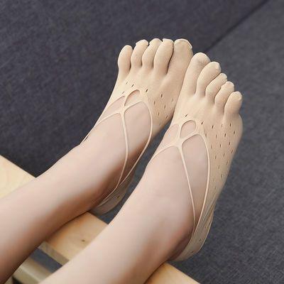 3双5双船袜女浅口隐形袜子韩版学生夏季五指袜薄女士天鹅绒冰丝袜