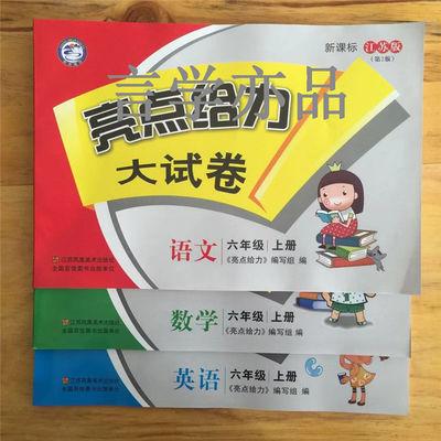 【热销】2020新版亮点给力大试卷上下册一二三四六年级语文数学英