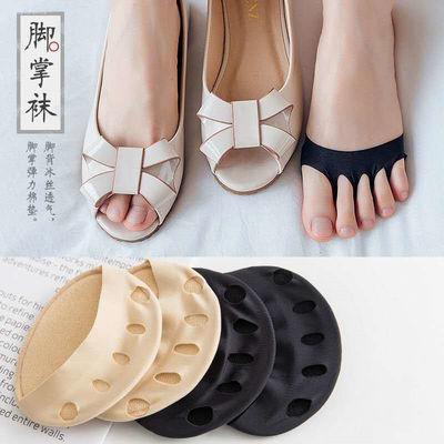 脚掌五指袜女士吸汗隐形分趾袜子女前掌半截袜套夏天薄款凉鞋袜底