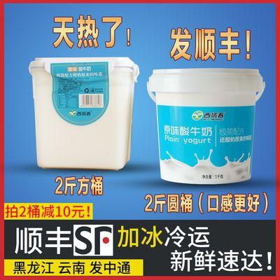 【热销】新疆老酸奶西域春2斤桶装水果捞网红酸奶零加益生菌加冰