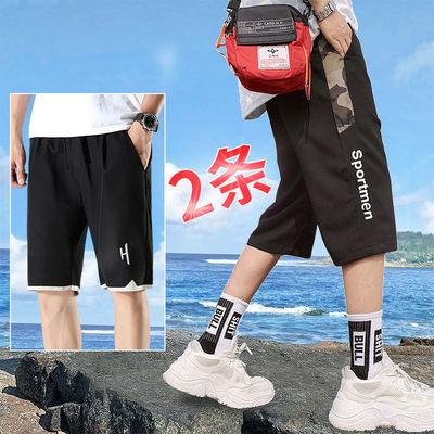 男士短裤夏季薄款裤子休闲运动速干五分裤夏天宽松韩版潮流七分裤