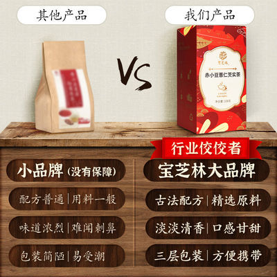 【热销】【2盒装】宝芝林红豆薏仁芡实茶赤小豆薏米6g*18祛湿养身