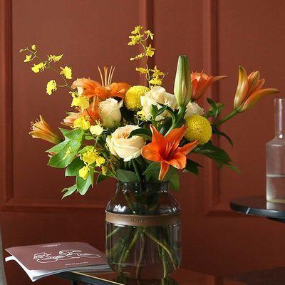 【花艺师随机混搭】鲜花花束 玫瑰桔梗花勿忘我干花满天星向日葵