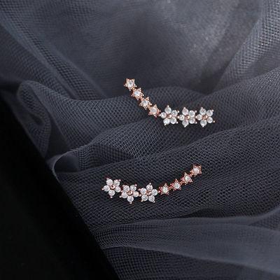 五角星耳排韩版时尚百搭轻奢网红小众设计闪钻彩金一排星星耳环女