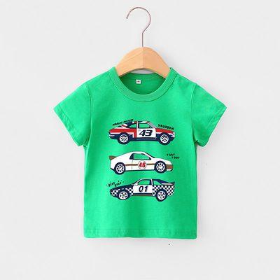 男童T恤短袖女童半袖体恤衫2020新款男宝宝打底衫夏季童装上衣韩