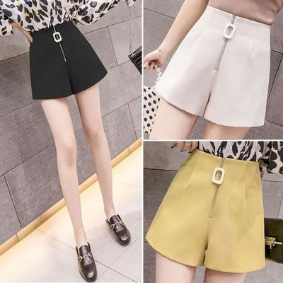 2020夏季新款韩版短裤女宽松显瘦高腰西装阔腿百搭休闲外穿裤子潮