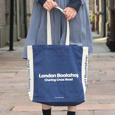 异集 英国伦敦书店帆布包女莎士比亚ins风文艺小众单肩手提购物袋