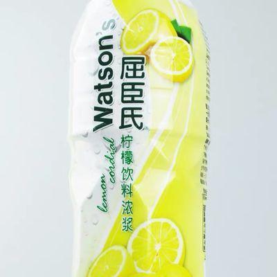 【热销】屈臣氏青柠饮料浓浆屈臣氏浓缩青柠檬果汁浓缩柠檬水750m