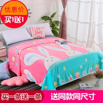 冬季速暖毛毯【买一条送一条】法兰绒空调毯休闲毯盖毯床单绒毯子