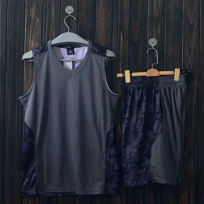 迷彩篮球服套装 男球衣比赛队服训练服 DIY定制团购吸汗