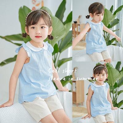 女童夏季短袖t恤宝宝洋气娃娃衫夏装婴幼儿纯棉百搭飞飞袖上衣潮