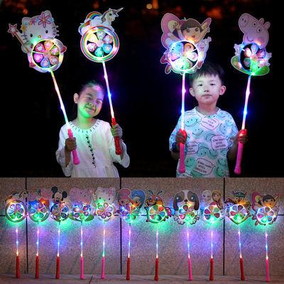 【厂家直销】网红发光风车玩具儿童新款七彩动物风车夜市地摊热卖