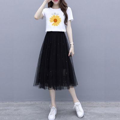 2020新款精品套装/单件 小雏菊套装裙子女夏2020新款两件套时尚潮