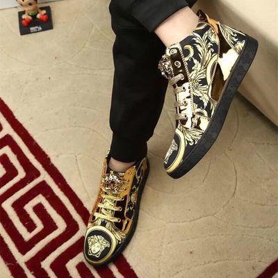 欧洲站真皮男鞋短靴马丁靴韩版休闲靴子复古风男士高帮板鞋百搭潮