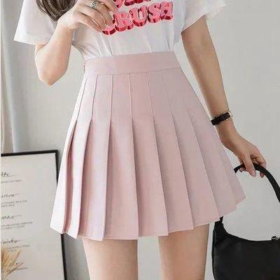 短裙连衣jk中长款蕾丝半身黑色ins子夏超仙女显瘦20新高腰一步白