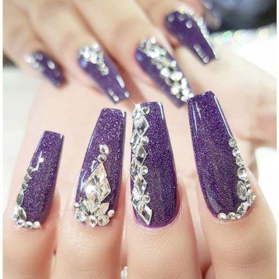 美甲钻饰品 网红平底透明白指甲钻指甲油胶装饰粘钻爱心水滴白钻