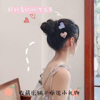 韩版新款网红 可爱气质贝壳爱心发夹 学生成人小清新桃心边夹头饰