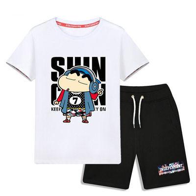 2020新款精品童装男童夏装套装胖大童男装加肥儿童短袖两件套运动
