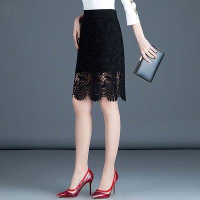 蕾丝短裙女夏包臀裙中长款半身裙春秋季新款大码女装高腰一步裙子
