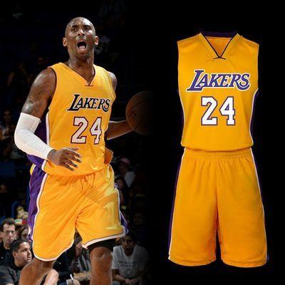 定制篮球服湖人詹姆斯23号戴维斯球衣科比24号套装运动队服男比赛