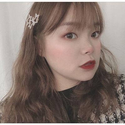 可爱心形珍珠发夹~三颗珍珠桃心发卡边夹韩国刘海夹发饰头饰品女