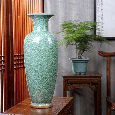 景德镇花瓶陶瓷客厅摆件仿古钧瓷现代家居装饰工艺品摆件摆设
