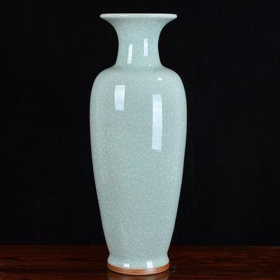 景德镇陶瓷大花瓶客厅落地仿古钧瓷家居装饰工艺品摆件摆设花