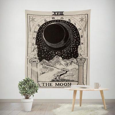 个性复古背景布ins挂布 日月星空壁毯网红拍照布置房间墙面装饰品