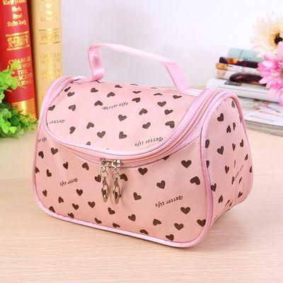 【买2送小包】化妆包 可爱桃心韩版时尚手拿包洗漱包