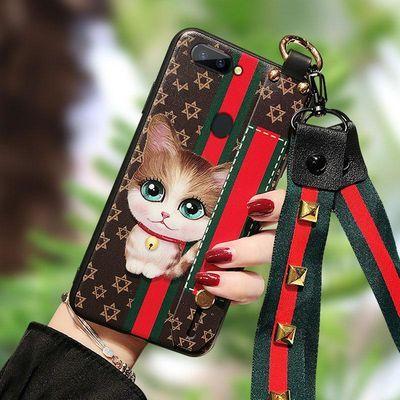 oppoa7x手机壳卡通a7x腕带opppa全包边opp0a保护套opopa潮男女a7x