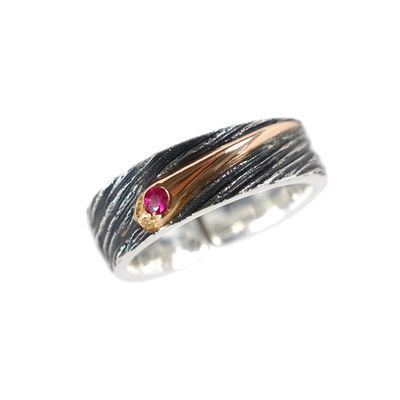 原创手工S925银流星戒指星空系列送女友送礼物送闺蜜开口可调指环