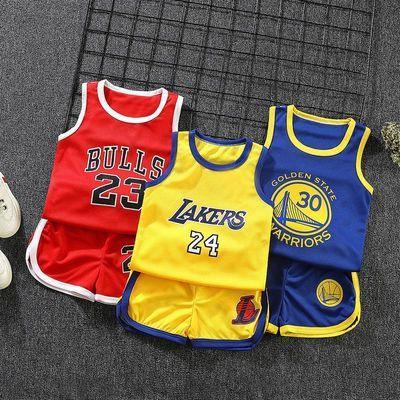 儿童夏款休闲运动短袖短裤套装男童篮球服夏季小学生女童表演服装