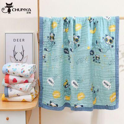 宝宝浴巾纯棉纱布洗澡浴巾婴幼儿吸水大毛巾被子儿童幼儿园盖毯