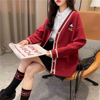 针织毛衣开衫外套2020春秋新款潮流韩版宽松外搭女士精品减龄上衣